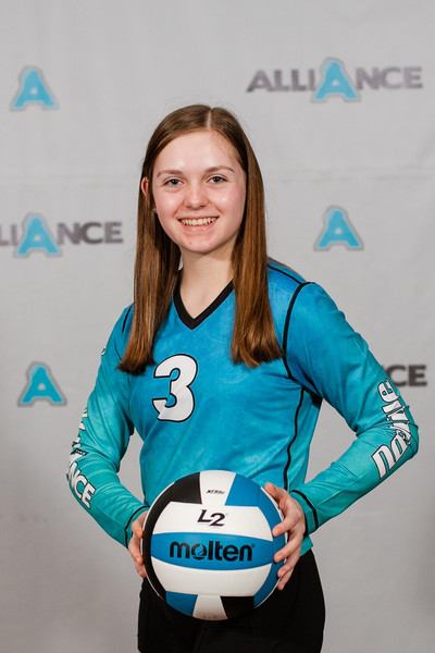 Alliance Volleyball Club 2020:  Claire Steele